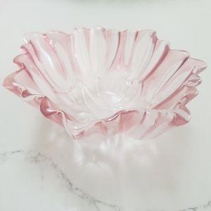 Pink Glass Bowl
